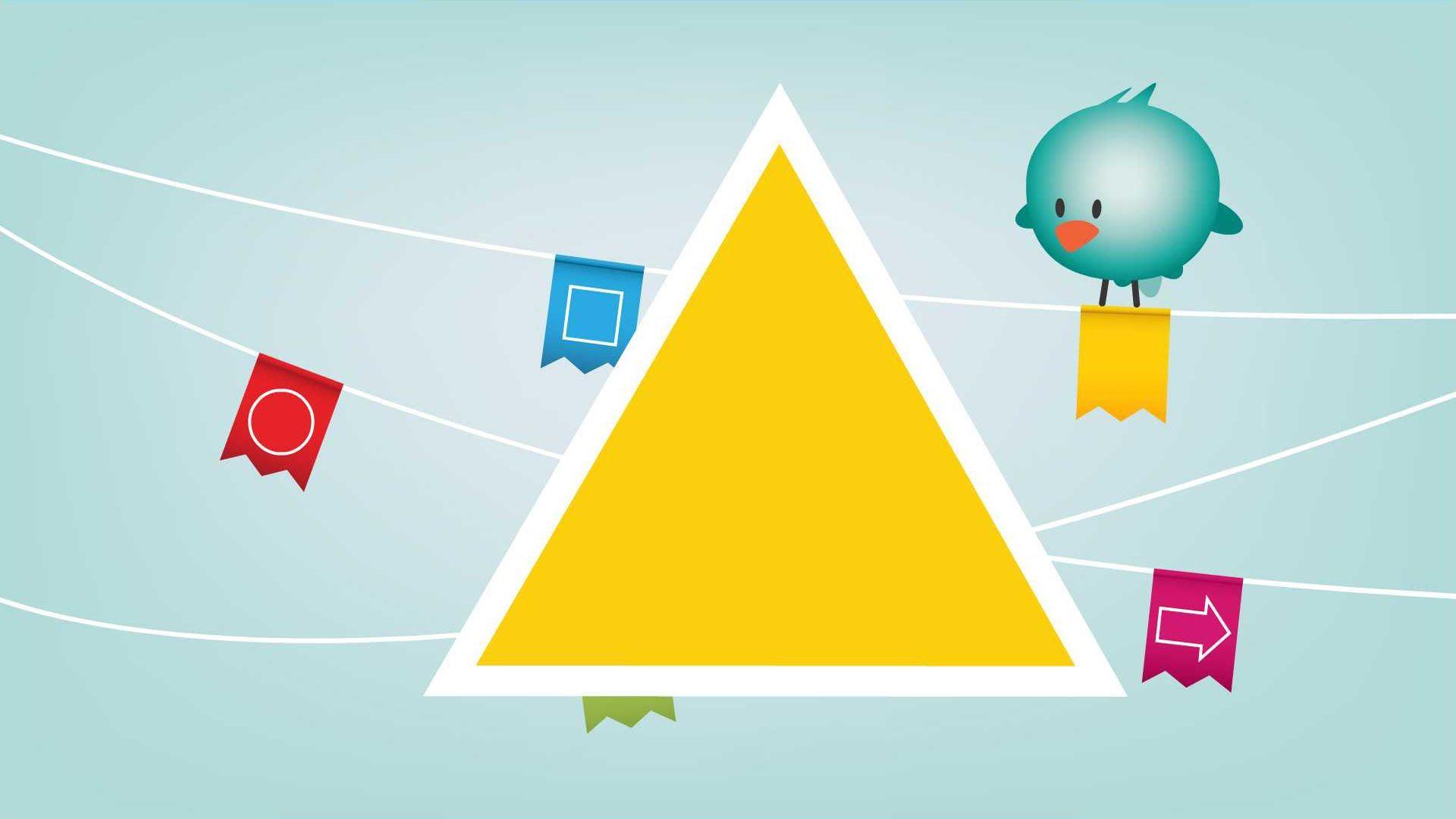 Bolly the bird figuren - vormen leren in het Nederlands - Dutch