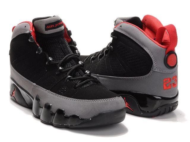 395bda94 Jordan 9 Retro Men Shoes Black Grey Red - Fashions-R-Us-Free ...