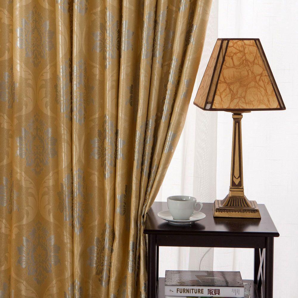 Lucxus Vorhang Gelb Silber Blumen Jacquard Im Wohnzimmer Gelbe Vorhange Wohnzimmer Und Lesezimmer