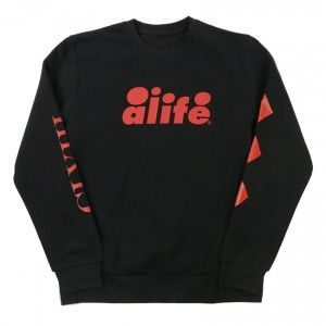 Alife ARC Crew Sweat  Black / red www.sneakupstore.com