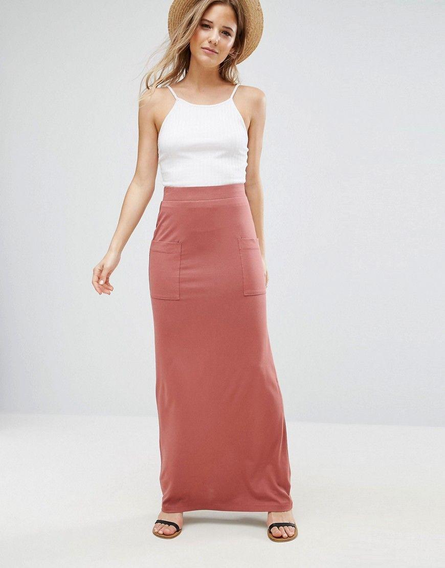 jersey maxi dress with pockets