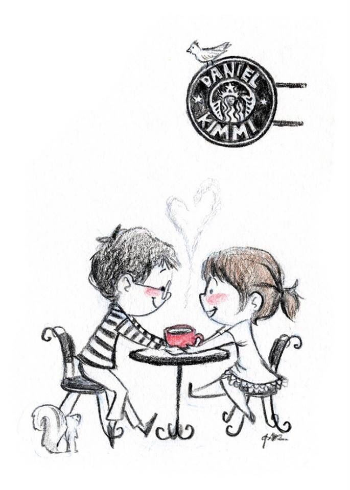 Enjoying Coffee Together ♥...:)
