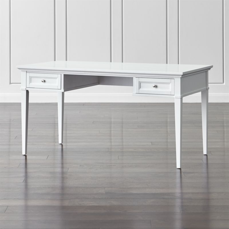Harrison 60 White Writing Desk With Drawers White Writing Desk White Desk With Drawers Writing Desk With Drawers