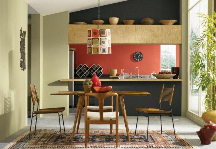 Pittura in cucina: 40 idee per scegliere i colori moderni #colori ...