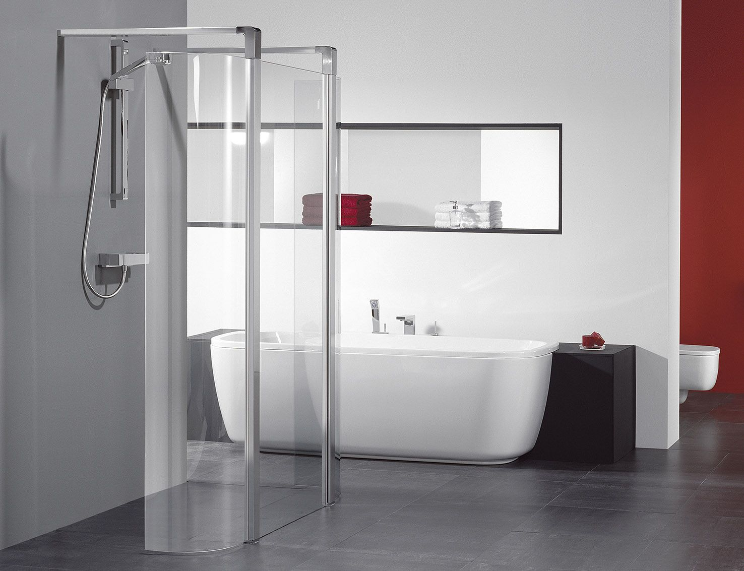 Duka 6000 Inloopdouche Met Chezza Bad Sealskin Sanitair Shower Panels Bathtub En Bathroom