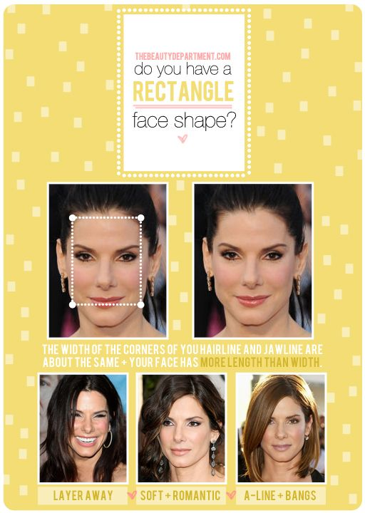 Hair Talk Rectangle Face Shape With Images Rectangle Face