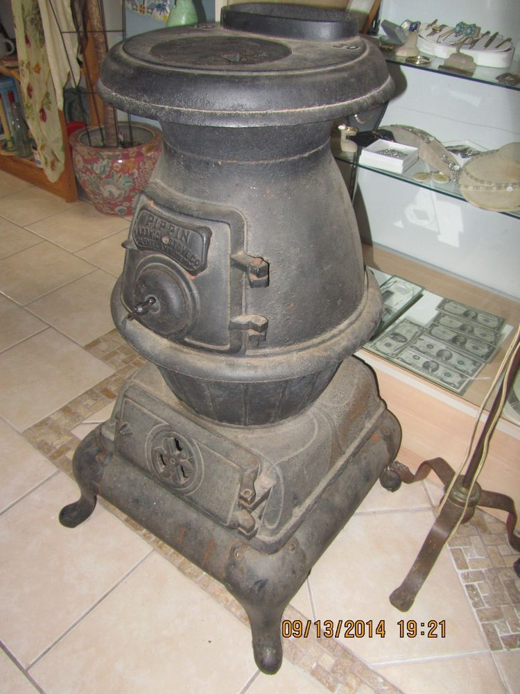Antique Pippin Hardwick Stove Co Pot Belly Cast Iron