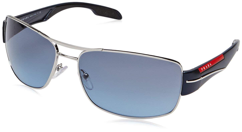 fb5bd1a30511 Silver Blue Sport Prada Lens Ps53ns Frame Gray Sunglasses xdIIqrpwnX