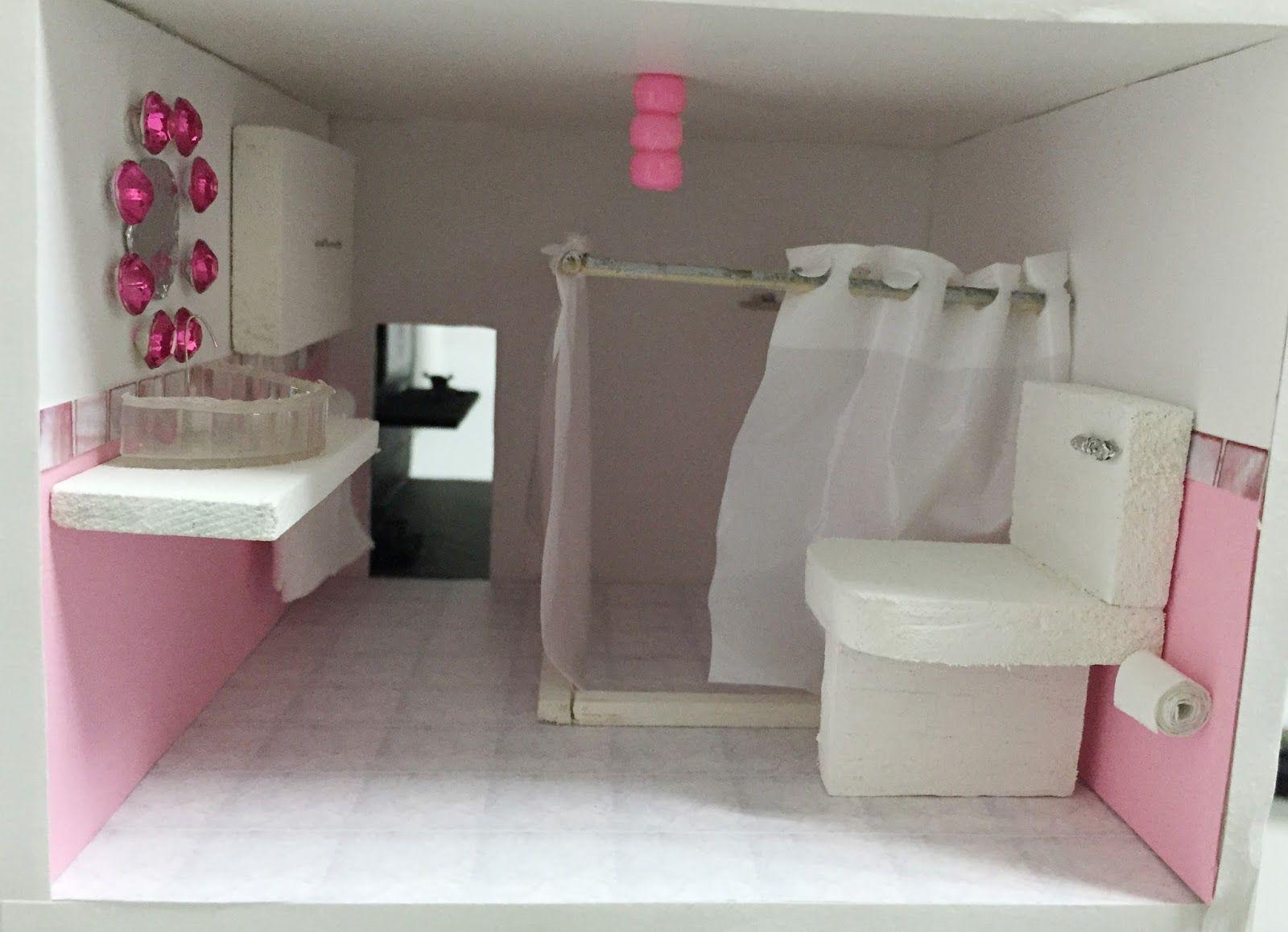 Resultado de imagen para ba o de papel para maquetas - Como hacer muebles de bano ...