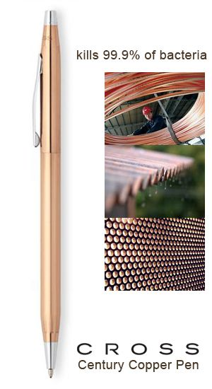 Did You Know That Metals Such As Brass And Bronze Are Actually Antimicrobial Copper Alloys Cross Pens Copper Ballpoint Pen