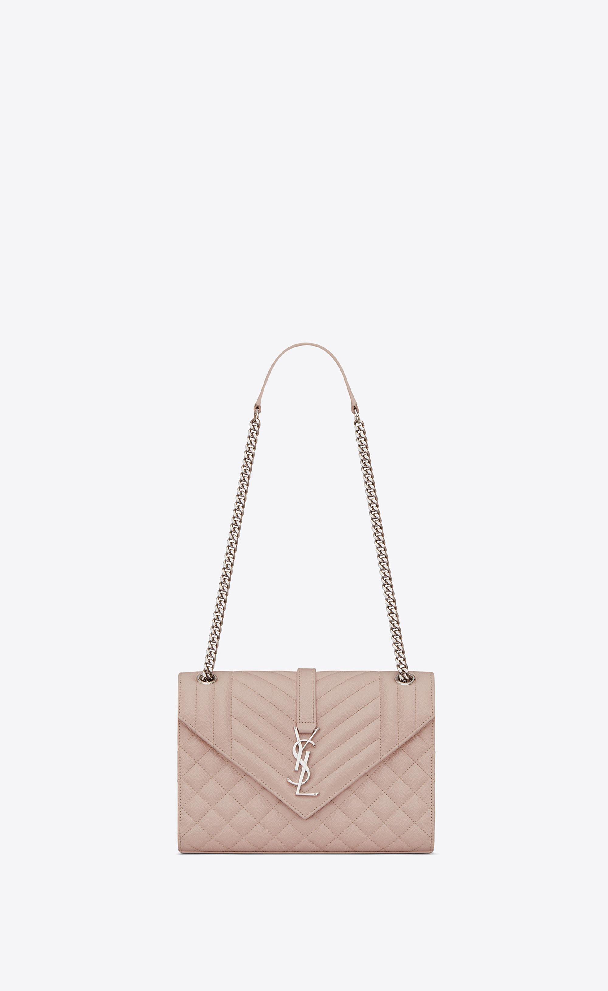 d98887ca0a33  Saint Laurent Envelope Medium Bag In Grain De Poudre Embossed Leather