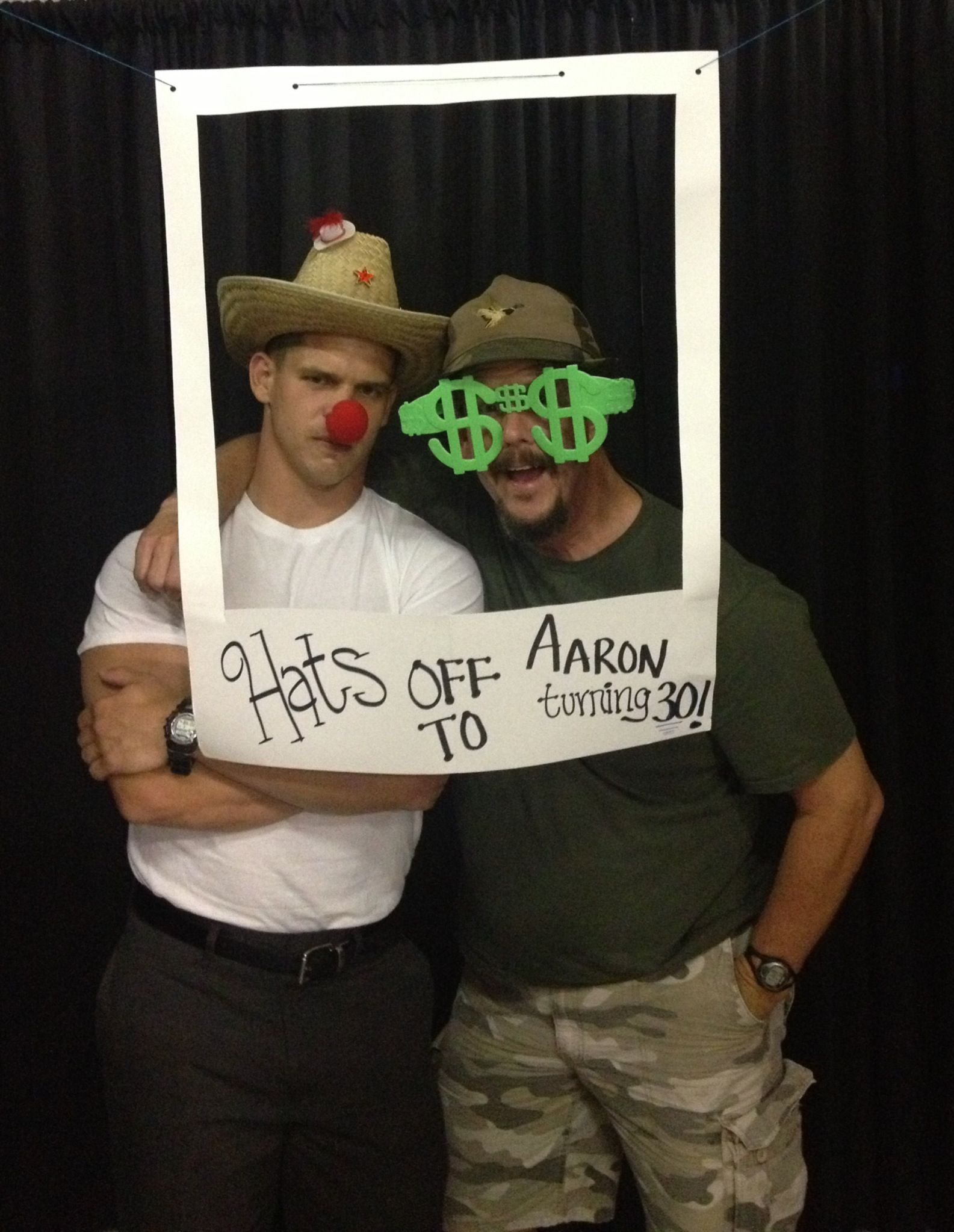 30th birthday theme we used, the photo booth was a fun success ...