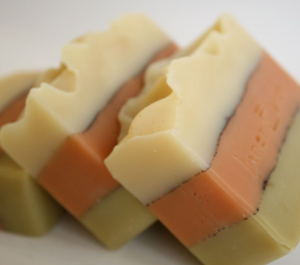 Thai Tea Melt And Pour Bars Tutorial: INNER EARTH SOAPS: Soap Techniques: Layering