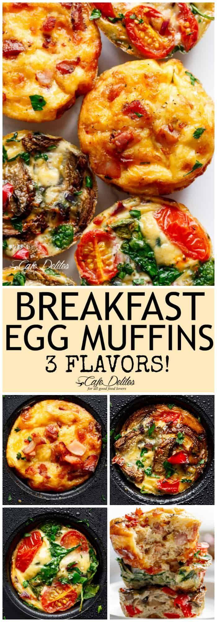 79716a7dcd3 Breakfast Egg Muffins 3 Ways (Meal Prep) - Cafe Delites
