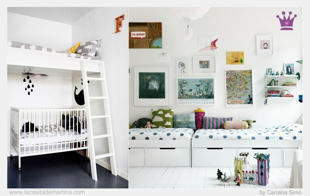 Problemas de espacio habitaciones infantiles compartidas - Decoracion infantil habitacion ...