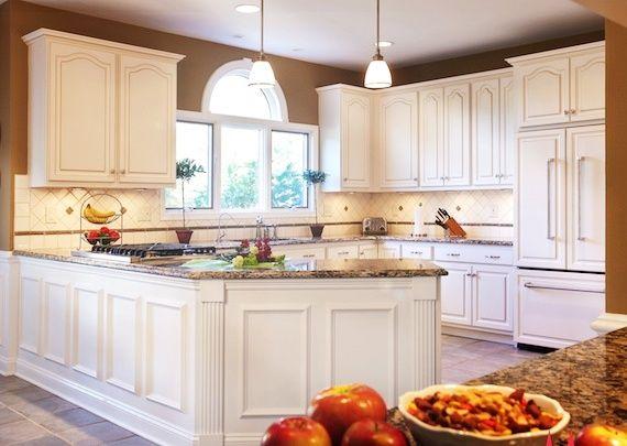 Cabinet Refacing: White Kitchen Design