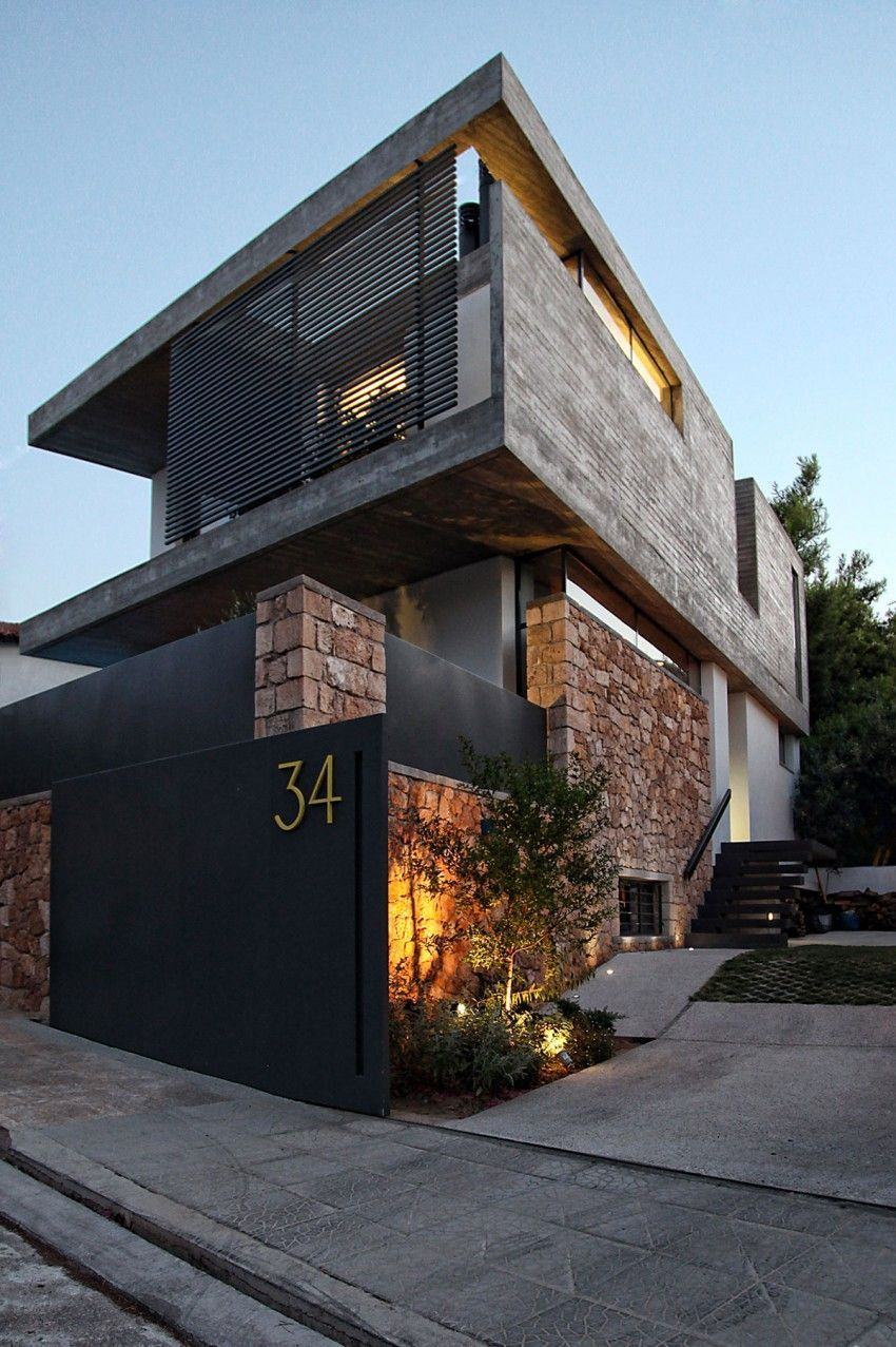 A\u0026A House by WoARCHITECTS | Athens greece, Contemporary and Modern ...