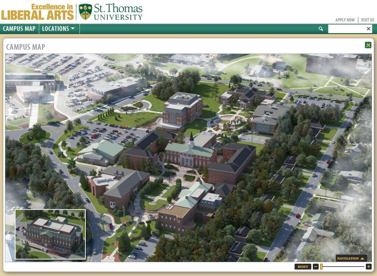 STU Campus Map   St. Thomas University Interactive Map   Pinterest