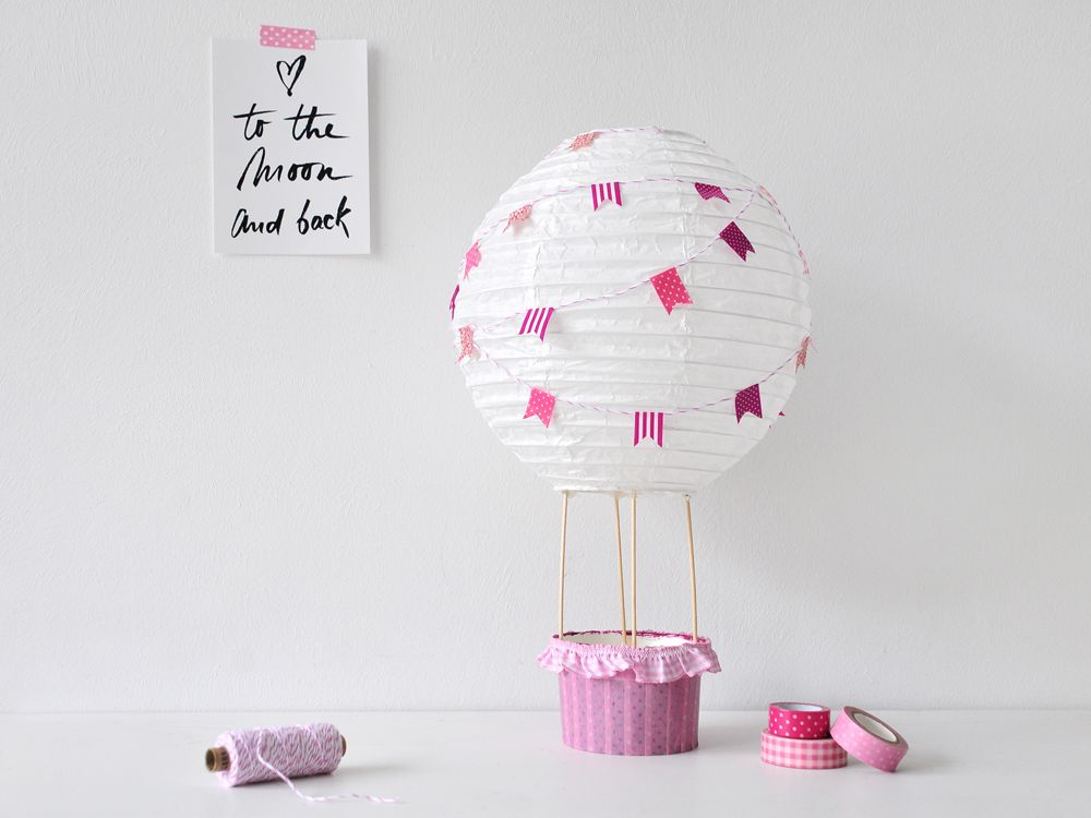 diy heissluftballon f r das kinderzimmer gastbeitrag deko pinterest hei luftballon. Black Bedroom Furniture Sets. Home Design Ideas