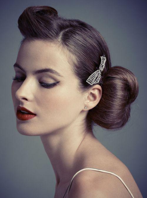 Simone Doreleijers Hair And Beauty Pinterest Retro Updo Hair