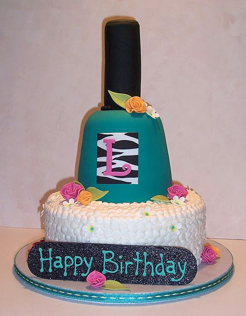 Nail Polish Manicure Cake