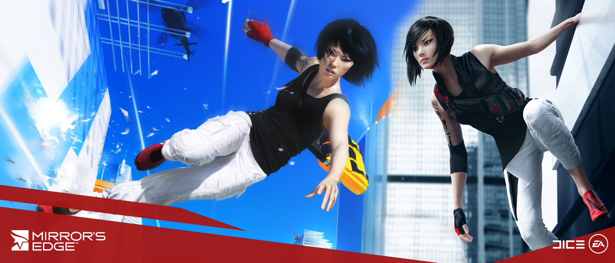 [2520x1080] I made an ultrawide Mirror's Edge wallpaper