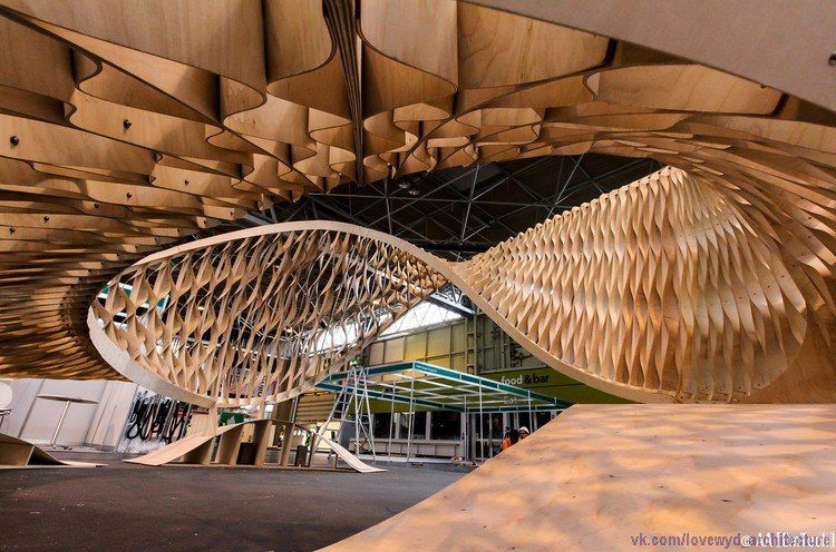 """fp """"The TWIST installation"""" at Timber Expo by AA School of Architecture"""