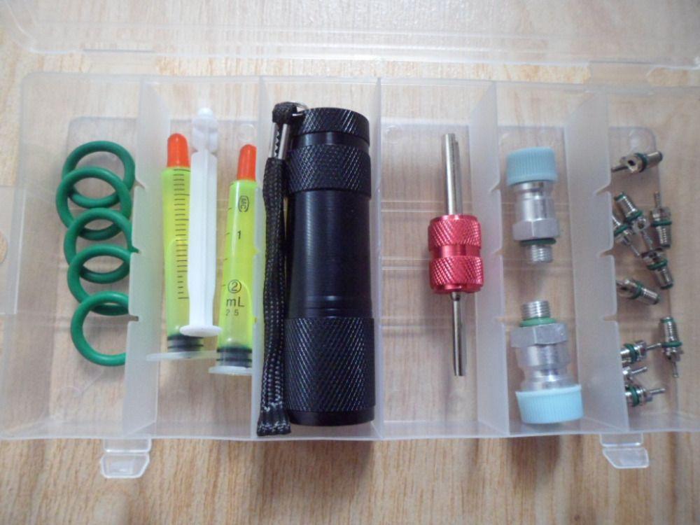 6in1 car air conditioning repair tool kits, r134a