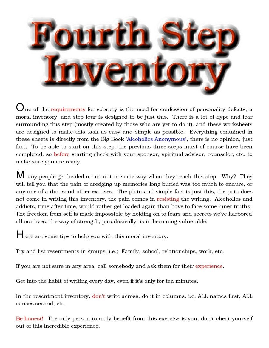 Celebrate Recovery Inventory Worksheet Worksheets