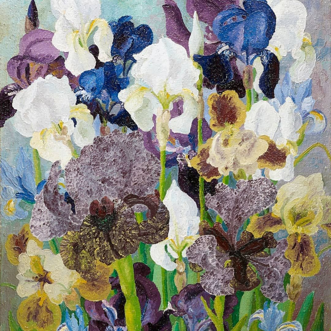 It's May day, so here's, 'May Flowering Irises No. 2