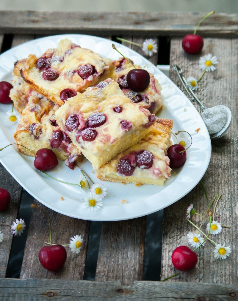 Photo of Pudding cake with sour cherries