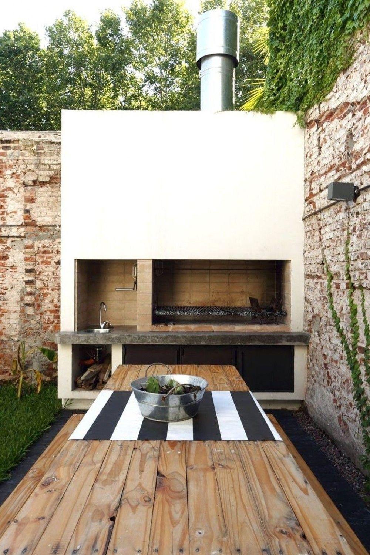 12 superbes idées de cuisine d'été en plein air   Outdoor grill ...