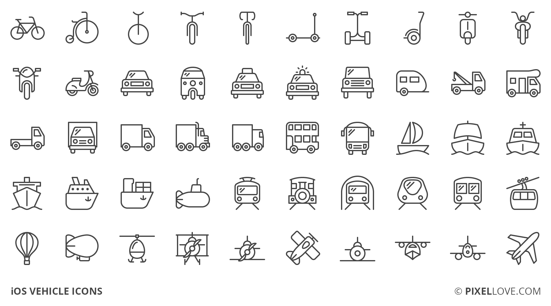 A Set Of Ios Tab Bar Icons Toolbar Icons And 3d Touch Icons Of