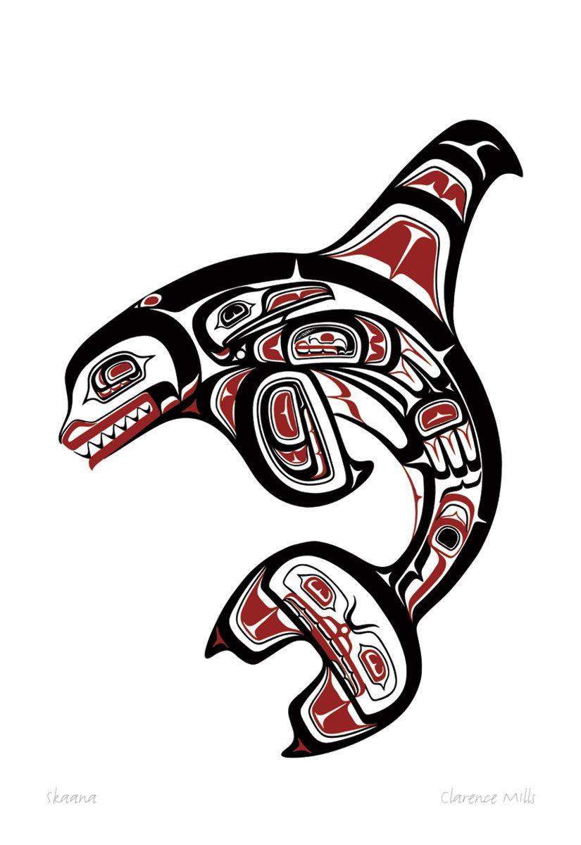 436d1e781 Skaana | by Clarence Mills | native art in 2019 | Art, Haida art ...