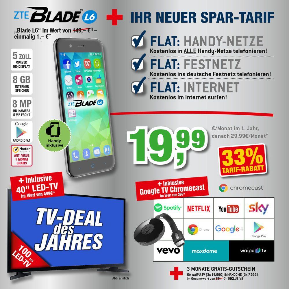 Zte Blade L6 40zoll Led Tv Mit Vertrag Handyvertrag Handy Mit Vertrag Handyvertrag Internet Surfen Handy
