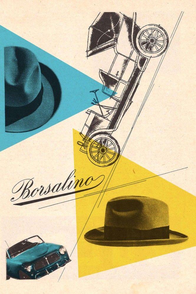 Max Huber, cappelli Borsalino - hats