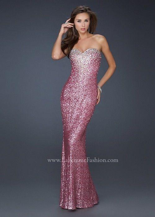 Pink glitter prom dress | Ang\'s Fashion - Dresses | Pinterest ...