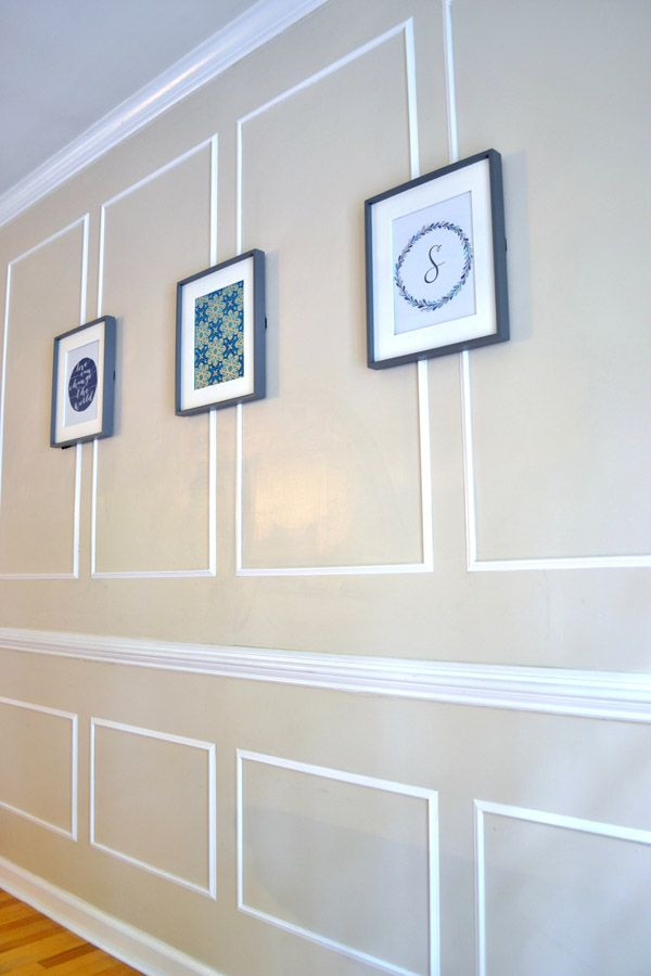 Picture Frame Molding In The Dining Room
