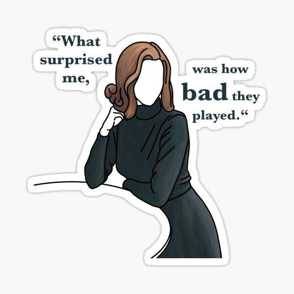Beth Harmon - The Queens Gambit Sticker by mifan