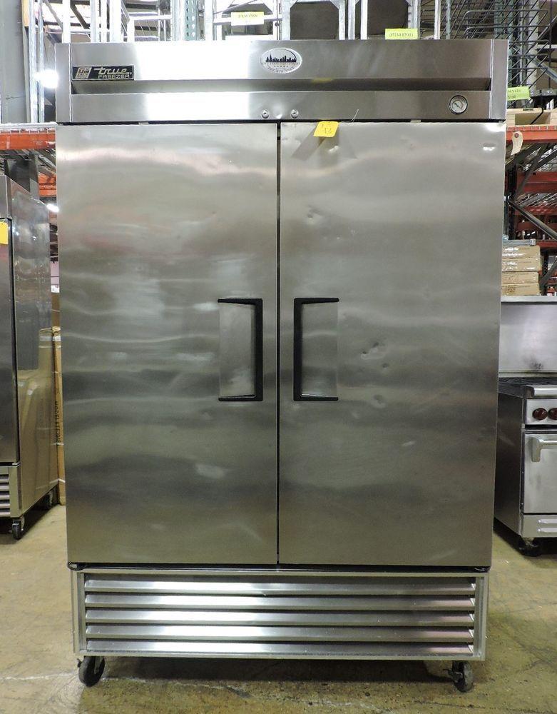 True T 49f Commercial Reach In Solid Swing Door Freezer Truemanufacturing Locker Storage Restaurant Equipment Doors