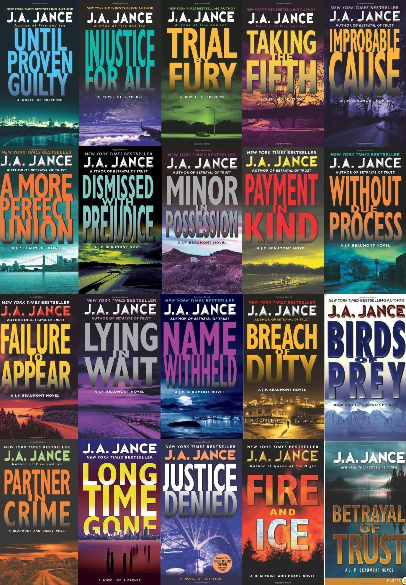 J P Beaumont Series By J A Jance