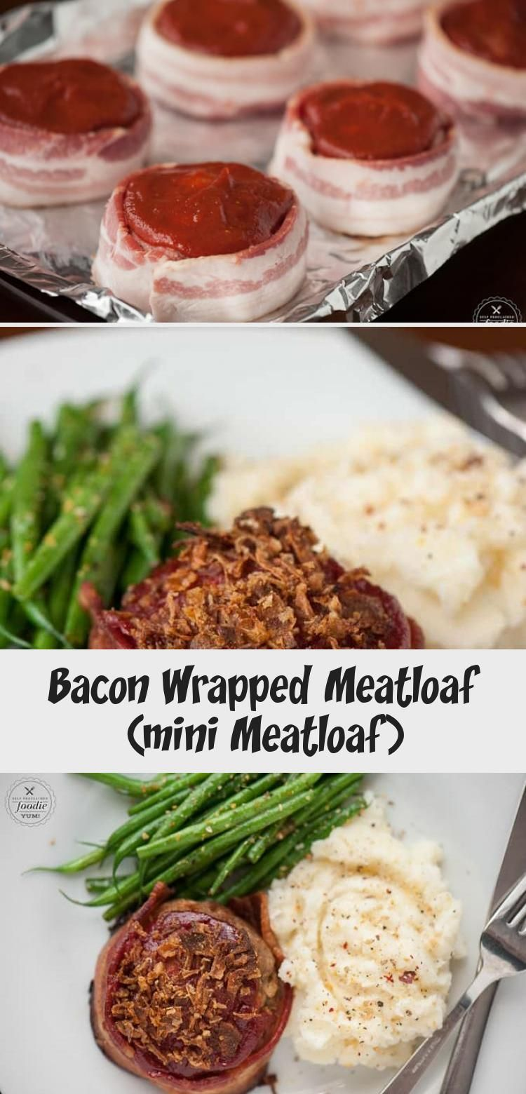 Bacon Wrapped Meatloaf is the best comfort food recipe you can make for dinner. Ground beef and bacon served as mini meatloaf for individual portion sizes! #meatloaf #meatloafrecipe #mini #individual #baconwrapped #best #classic #brownsugar #ketchup #withbreadcrumbs #Collegedinnerrecipes #dinnerrecipesIdeas #dinnerrecipesGlutenFree #Simpledinnerrecipes #Uniquedinnerrecipes #individual meatloaf recipe Bacon Wrapped Meatloaf (mini Meatloaf) - Recipe