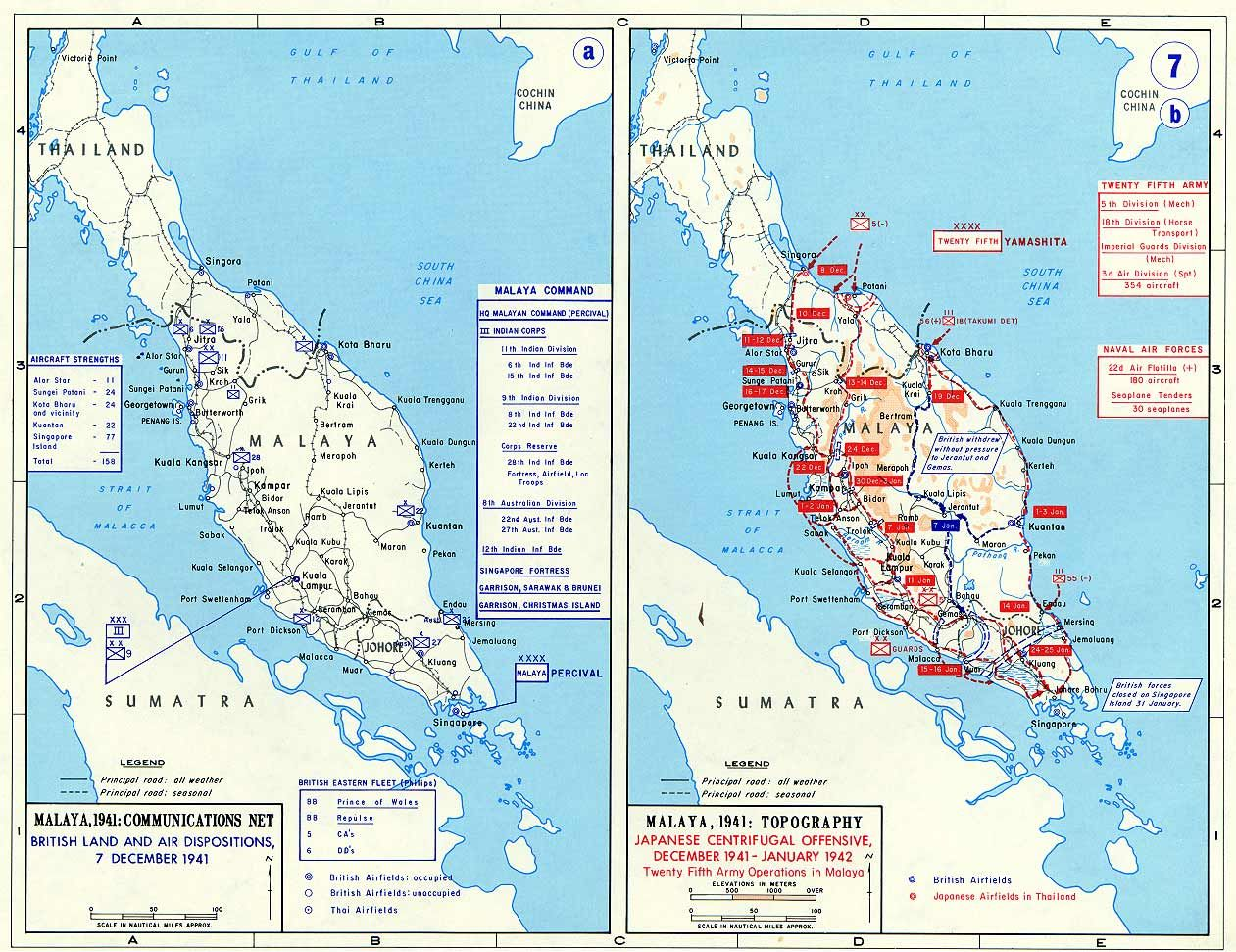 Map maps showing british positions in malaya and the japanese maps showing british positions in malaya and the japanese offensive dec 1941 jan 1942 gumiabroncs Choice Image