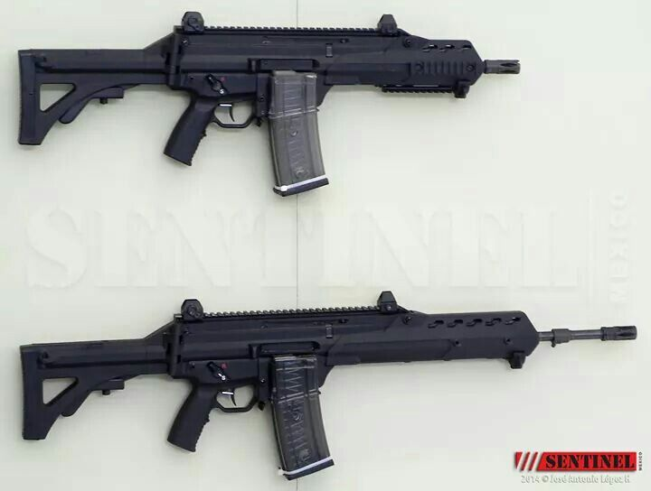 Carabine and assault rifle FX-05 5.56x45mm NATO is mexican made