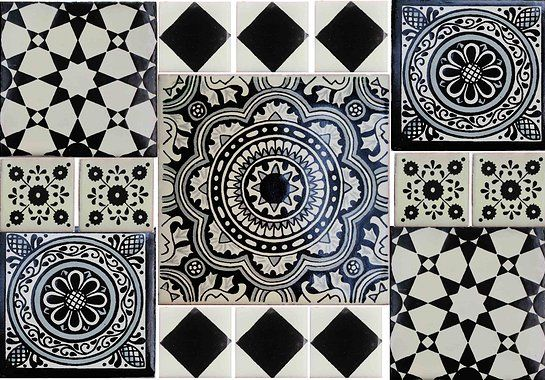 Black And White Mexican Tiles From Hadeda In Jhb Simply Love The Moroccan