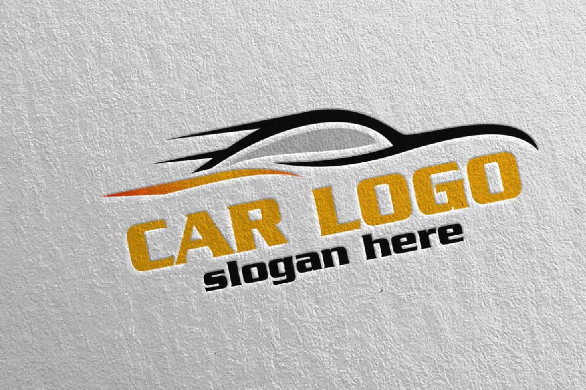 Auto Car Logo for Sport Cars, Rent, wash or Mechanic By