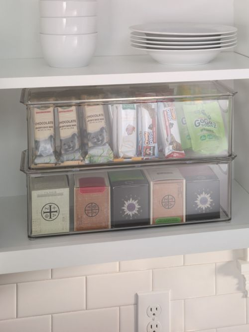 Kitchen Binz With Lid   Organize Your Fridge And Pantry With See Through  Stackable Bin