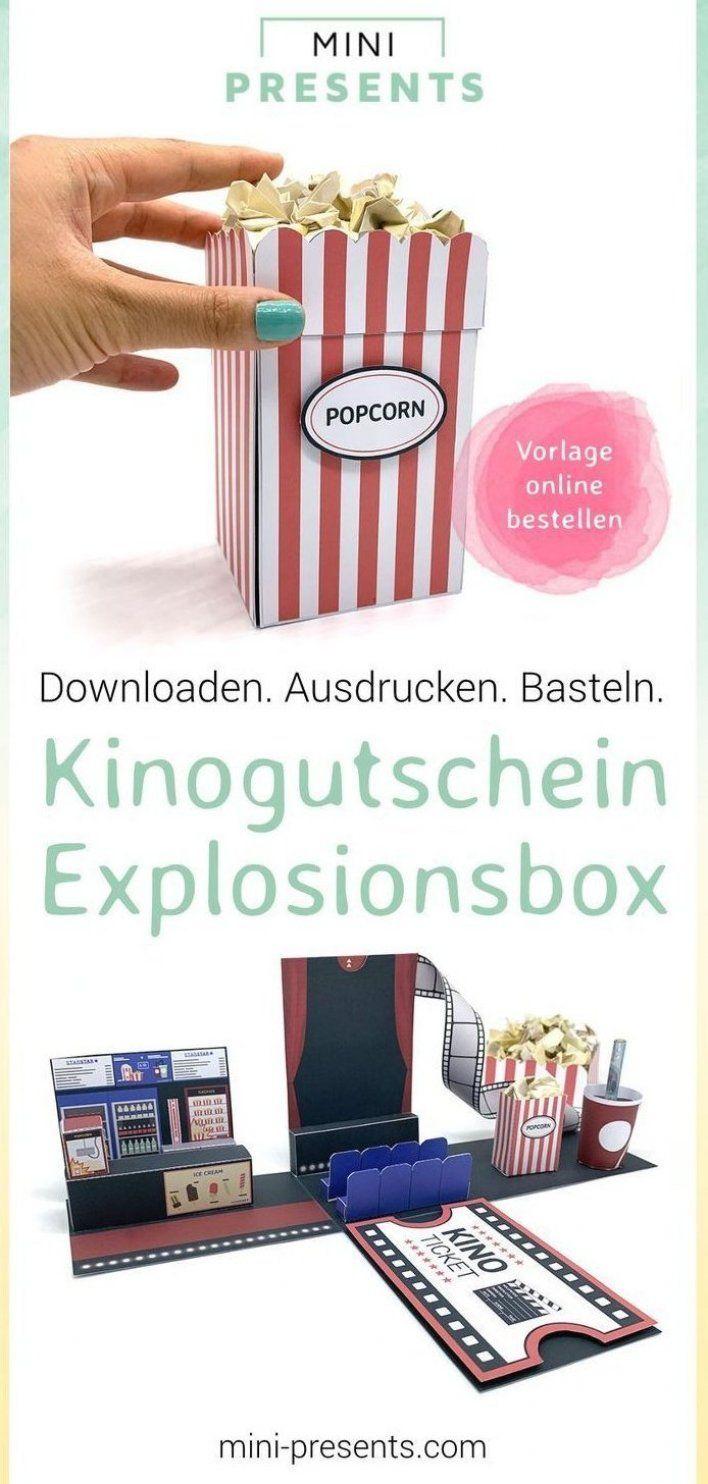Diy Gutschein F R Kino Tickets Basteln Du Suchst Geschenke F R M Nner F R Die Beste Freundin Zum Mutter In 2020 Cinema Vouchers Cinema Gift Party Decorations
