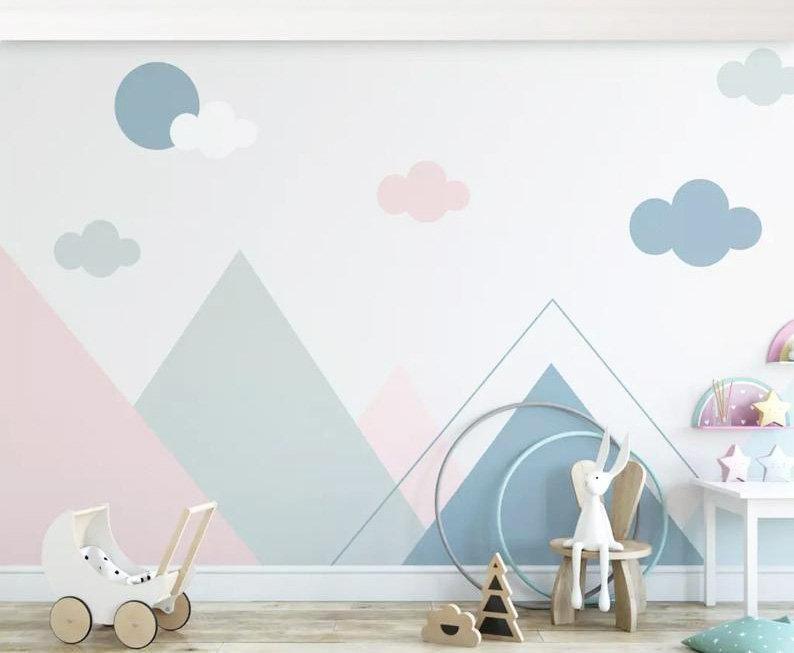 Peel And Stick Nursery Wallpaper Mural Removable Self Adhesive Etsy Kinder Zimmer Kinderzimmer Tapete Kinder Tapete