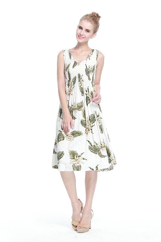 b4008182b8d4 Women's Clothing, Dresses, Casual, Women's Hawaiian Tank Elastic Luau Dress  In Palm Green - Palm Green White - C412MGU3339 #fashion #dress #women  #outfits ...